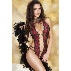 Chilirose Body CR3635 Negro y rojo S/M