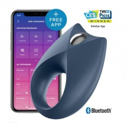 Satisfyer Anillo Recargable Royal Azul con APP